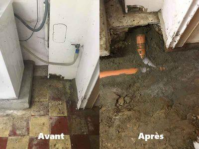 Réparation fuite et changement canalisation à Bruxelles